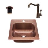 RCS Gas Grills RSNK3 Undermount Sink & Faucet in Copper