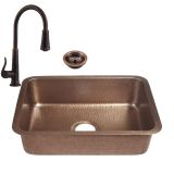 RCS Gas Grills RSNK4 Undermount Sink and Pull-Down Faucet in Copper