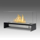 Eco-Feu TT-00177 Rio Decorative Fire Pit Table - Stainless Steel
