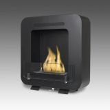 Eco-Feu Cosy Wall Mounted/Freestanding Ethanol Fireplace - Matte Black