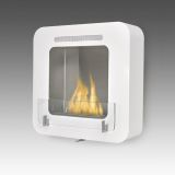 Eco-Feu Cosy Wall Mounted/Freestanding Ethanol Fireplace - Gloss White