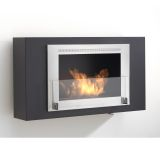 Eco-Feu WU-00173-MB Brooklyn Decorative Wall-Mounted Fireplace
