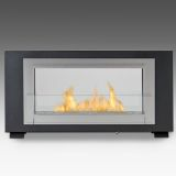 Eco-Feu WS-00166-BB Montreal 2-Sided Decorative Wall-Mounted Fireplace
