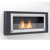 Eco-Feu WU-00180-MB Santa Lucia Decorative Wall-Mounted Fireplace