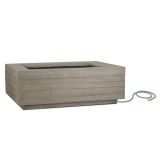Real Flame Board Form LP Rectangle Fire Table - Concrete Gray