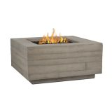 Real Flame Board Form LP Square Fire Table - Concrete Gray