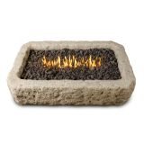Real Flame Antique Stone LP Rectangle Fire Table