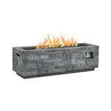 Real Flame Gray Ledgestone LP Rectangle Fire Table
