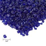 Real Flame Fire Glass in Cobalt Blue
