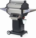 Phoenix SDBOCP Grill Head on Black Aluminum Pedestal Cart - LP
