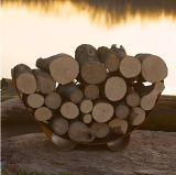 Fire Pit Art CRLR-Carbon Crescent Log Rack  - Carbon Steel