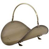 """UniFlame W4622 Antique Brass Woodbasket - 19"""""""
