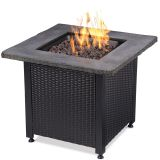 UniFlame GAD15204SP Outdoor LP Fire Table with Faux Stone Mantel - 30""