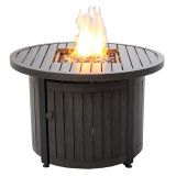 UniFlame GAD15401SP Outdoor LP Fire Table with Aluminum Mantel - 36""