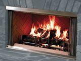 Montana 36 Outdoor SS Wood Burning Fireplace w/Herringbone Panels