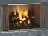 """Villawood 42"""" Outdoor Wood Fireplace with Traditional Refractory Liner"""