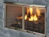 """42"""" Outdoor Villa Gas Fireplace with Traditional Refractory Liner"""