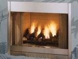"""Al Fresco 36"""" Outdoor Radiant Vent-Free NG Fireplace - Stainless Steel"""
