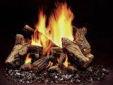 "Duzy 5 Fiber Ceramic Vented Gas Log Set with Manual NG Burner - 30"""