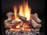 Duzy 3 Refractory Cement Vented Log Set with Manual NG Burner - 30""