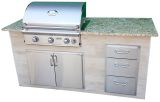 Melborne Exterus to Go Outdoor Kitchen Island with AOG 30NBL Grill