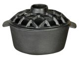 US Stove LS-01 2.2 Qt. Lattice Top Steamer -flat Black