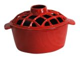US Stove LS-01R 2.2 Qt. Lattice Top Steamer -Red Enamel