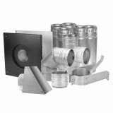 "US Stove SD3100 Duravent 4"" Pellet Vent Kit Stainless"