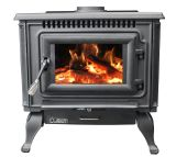 US Stove AC2000 Flat Black Cast Iron Wood Stove