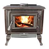 Mahogany Enameled Porcelain Cast Iron Wood stove with Blower