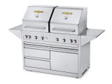 """Estate Elite 48"""" Double Drawer Cart Dual Lid Grill -Natrual Gas"""