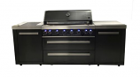 MAi805-BSS Mont Alpi 805 Black Stainless Steel Island