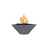 """Cazo 36"""" Round Tapered Fire Bowl w/ Match Lit Ignition in Gray - LP"""