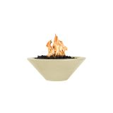 """Cazo 36"""" Round Tapered Fire Bowl w/ Match Lit Ignition in Vanilla - LP"""