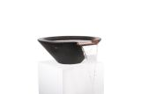 """36"""" Round Tapered Water Bowl in Black"""