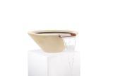 "36"" Round Tapered Water Bowl in Vanilla"
