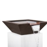 "Maya 36"" Square Water Bowl in Chocolate"