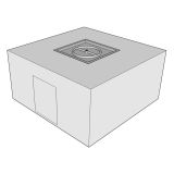 """Ready to Finish Square Fire Pit Form with Door - 48"""""""