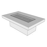 """Ready to Finish Rectangular Fire Pit Table Form - 60"""" x 30"""""""