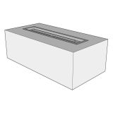 """Ready To Finish Rectangular Fire Pit Form - 60"""" x 24"""" x 16"""""""