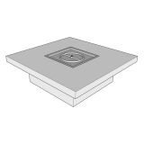 """Ready to Finish Square Fire Pit Table Form - 36"""""""