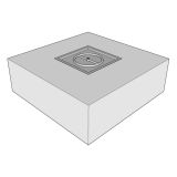 """Ready to Finish Square Fire Pit Form - 36"""""""
