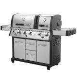 Royal Gourmet MG6001-R Mirage Two Split Lid 6-Burner Gas Grill With Infrared Burner
