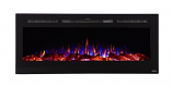 "Sideline 50"" Wide Recessed Electric Fireplace - Black"