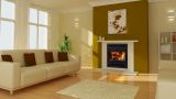 Astra 24 ZC Wood Burning Fireplace with Traditional Surround in Black