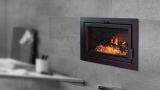 Astra 24 ZC Wood Burning Fireplace with Clean Face Surround in Black