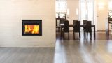 Duet See-Through Wood Burning Fireplace with 2 Ducts - Charcoal