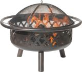 Dagan FP-1024 Criss Cross Style Design Fire Pit in Bronze
