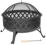 Dagan FP-1027 Diamond Style Design Fire Pit in Black