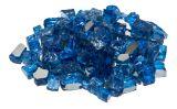 Dagan TG-DIABLUE Tempered Reflective Fire Glass - Dark Blue